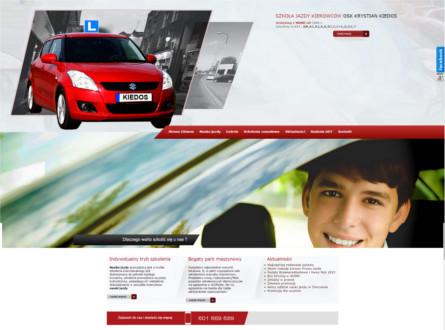Projekt strony www Kiedos.net - Szkoła nauki jazd