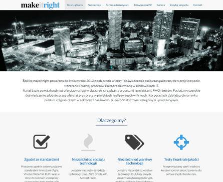 makeitright.pl - Projekt dla firmy zajmującej się automatyzacją