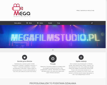 MegaFilmStudio.pl - Projekt strony dla firmy z zakresu produkcji wideo
